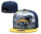 Cheap Chargers Team Logo Navy Yellow Adjustable Leather Hat TX