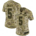 Cheap Nike Redskins #5 Tress Way Camo Women's Stitched NFL Limited 2018 Salute To Service Jersey