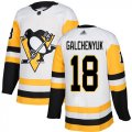 Cheap Adidas Penguins #18 Alex Galchenyuk White Road Authentic Stitched NHL Jersey