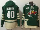 Cheap Wild #40 Devan Dubnyk Green Name & Number Pullover NHL Hoodie
