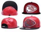 Cheap NFL Kansas City Chiefs Team Logo Red Reflective Adjustable Hat P56