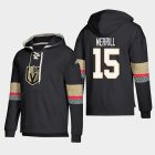Cheap Vegas Golden Knights #15 Jon Merrill Black adidas Lace-Up Pullover Hoodie