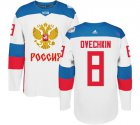 Cheap Team Russia #8 Alexander Ovechkin White 2016 World Cup Stitched NHL Jersey