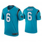 Cheap Men's Carolina Panthers #6 P.J. Walker Color Rush Legend Blue Nike Jersey