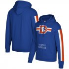 Cheap Denver Broncos Mitchell & Ness Three Stripe Pullover Hoodie Royal