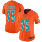 Cheap Nike Dolphins #75 Ereck Flowers Orange Women's Stitched NFL Limited Inverted Legend Jersey