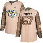Cheap Adidas Predators #57 Dante Fabbro Camo Authentic 2017 Veterans Day Stitched Youth NHL Jersey
