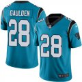 Cheap Nike Panthers #28 Rashaan Gaulden Blue Alternate Men's Stitched NFL Vapor Untouchable Limited Jersey