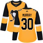 Cheap Adidas Penguins #30 Matt Murray Gold Alternate Authentic Women's Stitched NHL Jersey