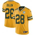 Cheap Nike Packers #28 AJ Dillon Yellow Youth 100th Season Stitched NFL Limited Rush Jersey
