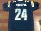 Cheap Chargers Ryan Mathews #24 Stitched Dark Blue Jersey