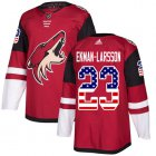 Cheap Adidas Coyotes #23 Oliver Ekman-Larsson Maroon Home Authentic USA Flag Stitched Youth NHL Jersey