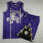 Cheap Raptors 15 Vince Carter Purple 1998-99 Hardwood Classics Jersey(With Shorts)
