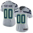 Cheap Nike Seattle Seahawks Customized Grey Alternate Stitched Vapor Untouchable Limited Women's NFL Jersey