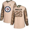 Cheap Adidas Jets #26 Blake Wheeler Camo Authentic 2017 Veterans Day Stitched Youth NHL Jersey