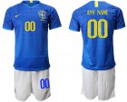 Cheap Brazil Personalized Blue Soccer Country Jersey