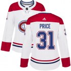 Cheap Adidas Canadiens #31 Carey Price White Road Authentic Women's Stitched NHL Jersey