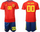 Cheap Spain Personalized Home Soccer Country Jersey