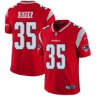 Cheap Nike Patriots #35 Kyle Dugger Red Youth Stitched NFL Limited Inverted Legend Jersey