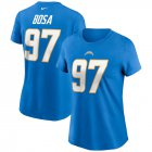 Cheap Los Angeles Chargers #97 Joey Bosa Nike Women's Team Player Name & Number T-Shirt Powder Blue