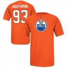 Cheap Edmonton Oilers #93 Ryan Nugent-Hopkins Reebok Name and Number Player T-Shirt Orange