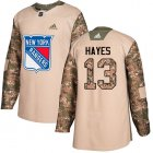 Cheap Adidas Rangers #13 Kevin Hayes Camo Authentic 2017 Veterans Day Stitched Youth NHL Jersey