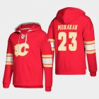 Cheap Calgary Flames #23 Sean Monahan Red adidas Lace-Up Pullover Hoodie