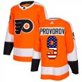 Cheap Adidas Flyers #9 Ivan Provorov Orange Home Authentic USA Flag Stitched Youth NHL Jersey