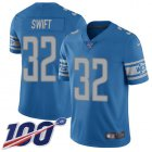 Cheap Nike Lions #32 D'Andre Swift Blue Team Color Youth Stitched NFL 100th Season Vapor Untouchable Limited Jersey