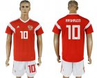 Cheap Russia #10 Arshavin Home Soccer Country Jersey
