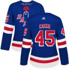 Cheap Adidas Rangers #45 Kappo Kakko Royal Blue Home Authentic Women's Stitched NHL Jersey