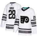 Cheap Adidas Flyers #28 Claude Giroux White Authentic 2019 All-Star Stitched Youth NHL Jersey