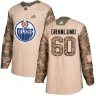 Cheap Adidas Oilers #60 Markus Granlund Camo Authentic 2017 Veterans Day Stitched Youth NHL Jersey
