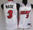 Cheap Miami Heat #3 Dwyane Wade White Kid Jersey