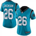 Cheap Nike Panthers #26 Donte Jackson Blue Women's Stitched NFL Limited Rush Jersey