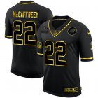 Cheap Men's Carolina Panthers #22 Christian McCaffrey Black Gold 2020 Salute To Service Stitched NFL Nike Limited Jersey