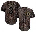 Cheap Rangers #3 Russell Wilson Camo Realtree Collection Cool Base Stitched Youth MLB Jersey