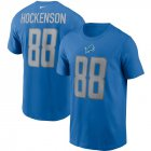 Cheap Detroit Lions #88 T.J. Hockenson Nike Team Player Name & Number T-Shirt Blue