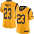Cheap Nike Rams #23 Cam Akers Gold Men's Stitched NFL Limited Rush Jersey