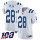 Cheap Nike Colts #28 Jonathan Taylor White Men's Stitched NFL 100th Season Vapor Untouchable Limited Jersey