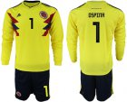 Cheap Colombia #1 Ospina Home Long Sleeves Soccer Country Jersey