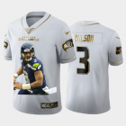 Cheap Seattle Seahawks #3 Russell Wilson Nike Team Hero 2 Vapor Limited NFL 100 Jersey White Golden