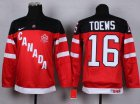 Cheap Team Canada #16 Jonathan Toews Red 100th Anniversary Stitched Youth NHL Jersey