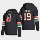 Cheap New Jersey Devils #19 Travis Zajac Black adidas Lace-Up Pullover Hoodie