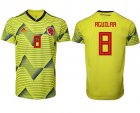Cheap Colombia #8 Aguilar Home Soccer Country Jersey
