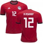 Cheap Egypt #12 A.Ashraf Red Home Soccer Country Jersey