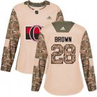 Cheap Adidas Senators #28 Connor Brown Camo Authentic 2017 Veterans Day Women's Stitched NHL Jersey