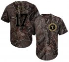 Cheap Rangers #17 Shin-Soo Choo Camo Realtree Collection Cool Base Stitched Youth MLB Jersey