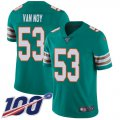 Cheap Nike Dolphins #53 Kyle Van Noy Aqua Green Alternate Youth Stitched NFL 100th Season Vapor Untouchable Limited Jersey