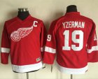 Cheap Red Wings #19 Steve Yzerman Red CCM Throwback Stitched Youth NHL Jersey